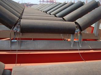 日照港三公司木片皮带机承载托辊及滚筒轴承温度监测